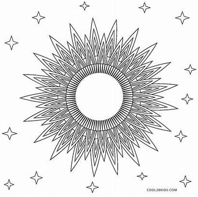 Coloring Sun Pages Mandala Printable Cool2bkids