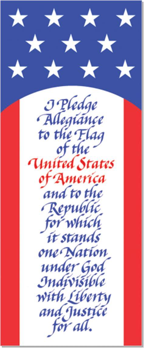 pledge  allegiance calligraphy art plaques