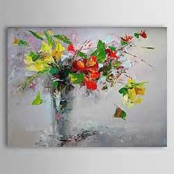 peint 224 la a fleurs botanique horizontale un panneau toile peinture 224 l huile hang peint