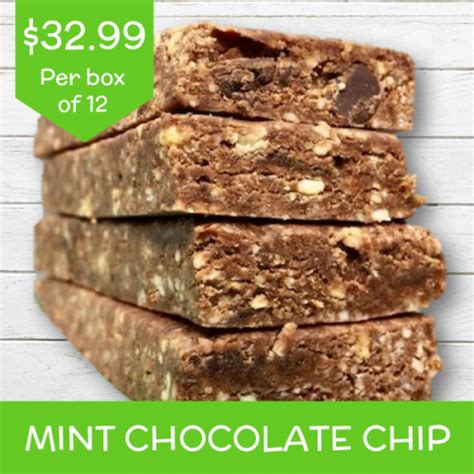 bars bar mint protein flavors chocolate chip
