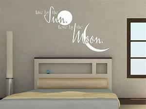 Wandtattoo Für Schlafzimmer : wandtattoo live by the sun wandtattoo schlafzimmer wandtattoos englisch wandtattoo spr che ~ Buech-reservation.com Haus und Dekorationen