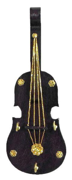 violin key rack   hooks wall hanging
