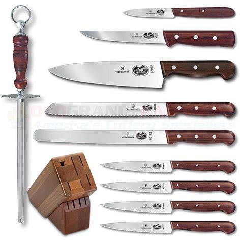victorinox kitchen knives set victorinox forschner 46153 11 kitchen block set