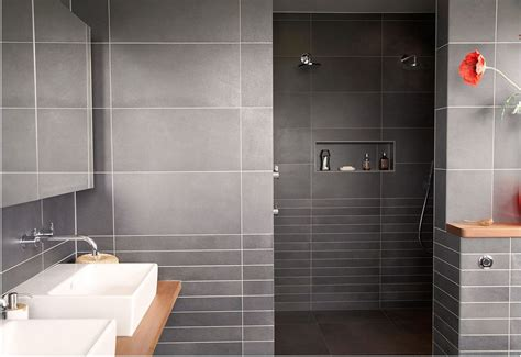 white tile bathroom modern bathroom tiles curved wall mirror gray tile