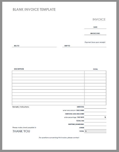 Blank Invoice Template 55 Free Invoice Templates Smartsheet