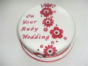 ruby wedding anniversary ruby wedding anniversary cake ideas and designs