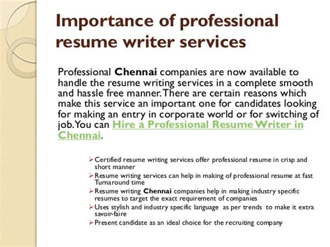 Importance Of Writing Resumes by Why Resume Writing Services Is Important