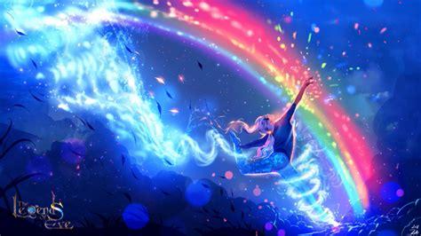Rainbow Anime Wallpaper - wallpaper anime boy rainbow wallpapermaiden