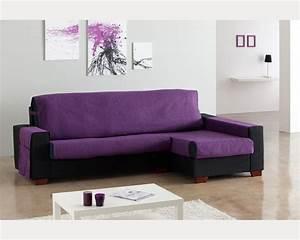 Housse pour canapé d'angle avec meridienne