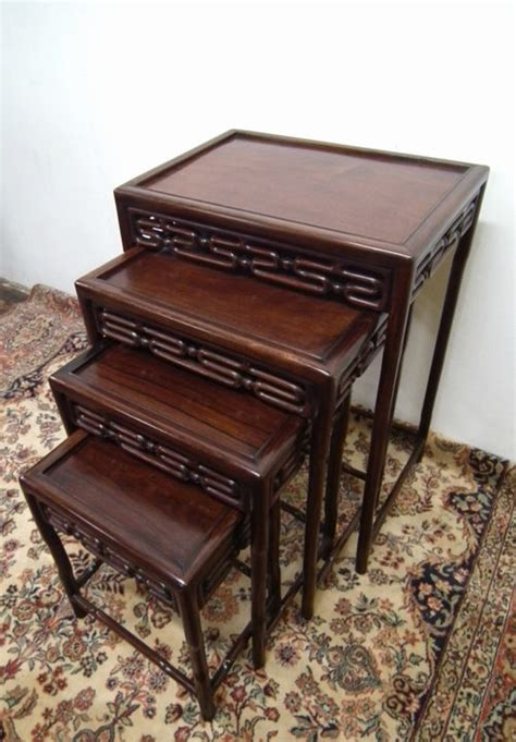 vintage nesting tables nest of 4 rosewood tables antiques atlas 3250