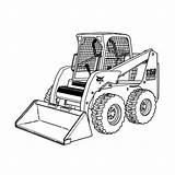 Bobcat Coloring Pages Truck Plow Clipart Snow Equipment Skid Loader Printable Skidsteer Trucks Steer Monster Construction Clip Tractor Drawing Sketch sketch template