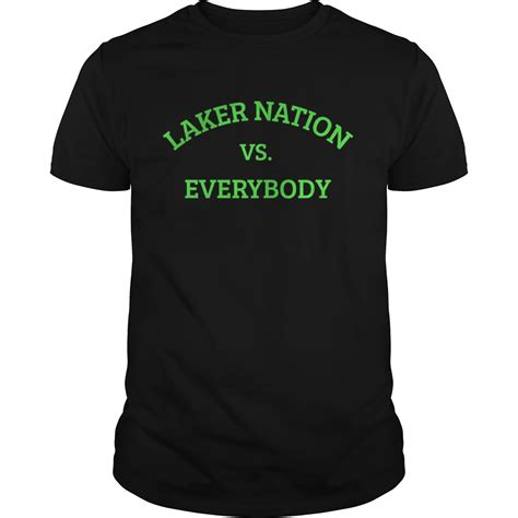 Laker Nation vs Everybody shirt - Trend T-Shirt
