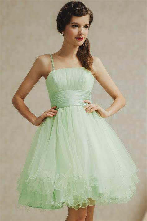 robe demoiselle d honneur verte pastel en tulle aux fines brtelles robespourmariage fr