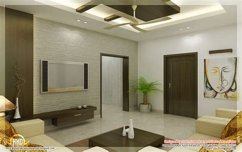 Home Design Ideas 3d by Awesome 3d Interior Renderings Kerala Home Design And