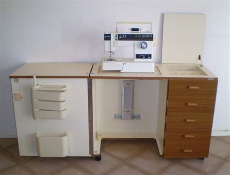 horn sewing cabinets second horn sewing machine cabinet c w hydraulic lift ebay