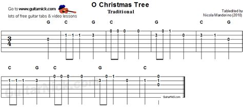 o christmas tree easy guitar tab guitarnick com