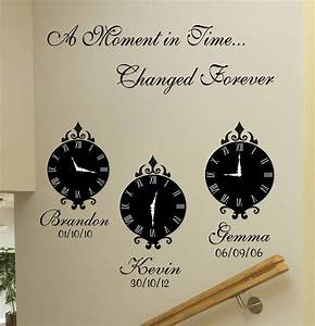 A moment in time wall art stickers by quotes