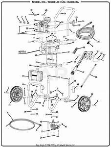 Homelite Hu80432a Pressure Washer Parts Diagram For General Assembly