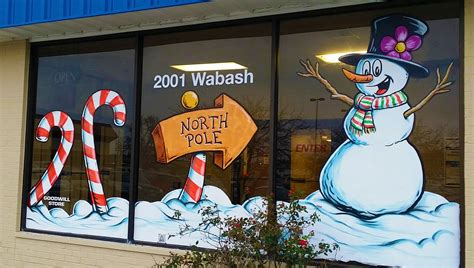 holiday window painting goodwill industries  sky
