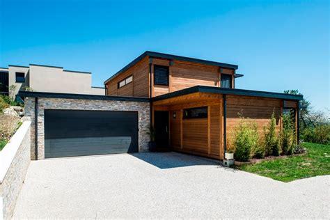 maison bois poteau poutre toiture terrasse millery lyon 69