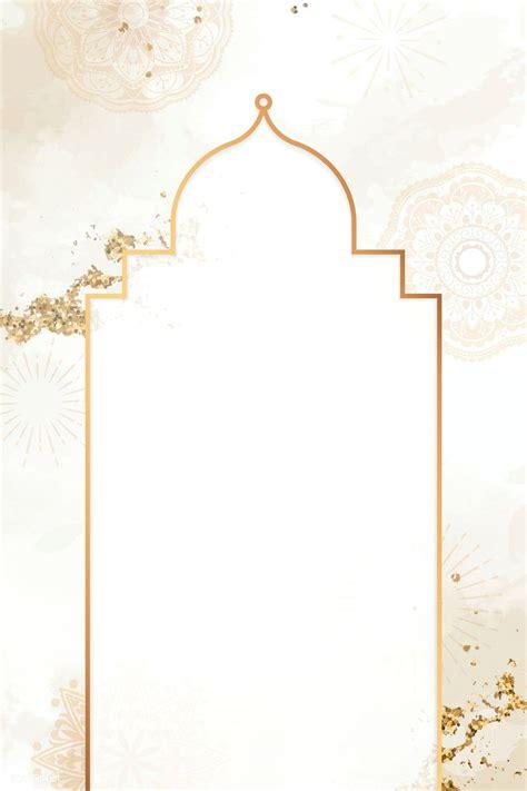 premium vector  gold frame  diwali pattern