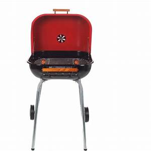 Meco Charcoal BBQ Grill With Wheels - Red - 4100 ...