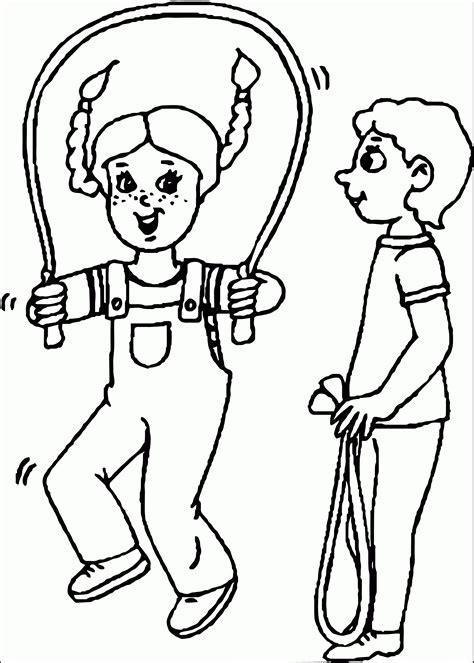 Coloring Ropes by Jump Rope Coloring Page Coloring Home