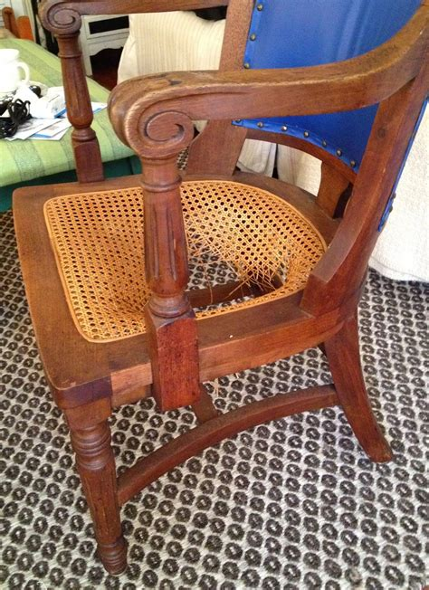 Recaning A Chair Back by Sheshe The Home Magician How To Fix A Chair With A