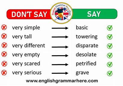 Instead Words Say Very Dont English Englishgrammarhere