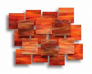 Sunset accent piece by karo martirosyan art glass wall