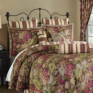 Waverly, Floral, Flourish, Cordial, 4, Piece, Reversible, Bedding