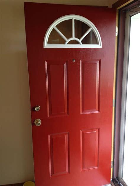 painting front door red behr premium ultra exterior red