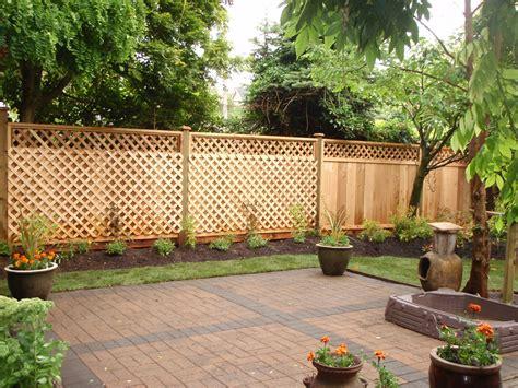privacy fence ideas for backyard fences gates arbors pergolas and lattice