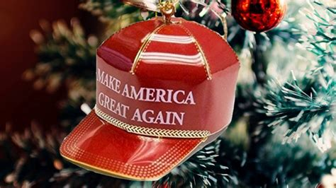 christmas trump donald ornament tree stuff merry very nz