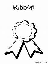 Ribbon Coloring Award Pages Place Drawing Printable Getcolorings Getdrawings sketch template