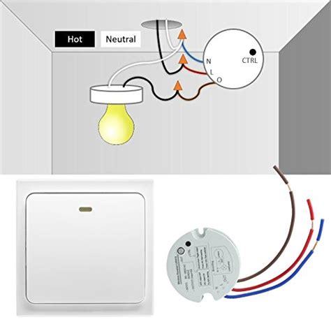 wireless light switch kit crelander wireless light switch no wiring no battery