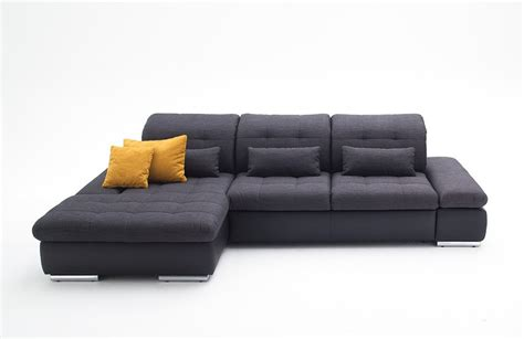 grey and black leather sofa alpine sectional sleeper sofa left arm chaise facing