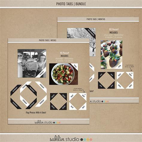 calendar cards photo tabs word art sahlin studio