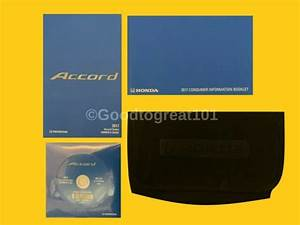 2017 17 Honda Accord Owners Manual Guide With Case M0040