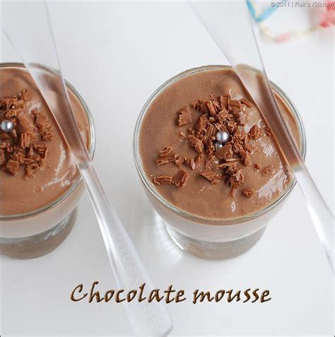eggless chocolate mousse recipe without gelatin raks kitchen