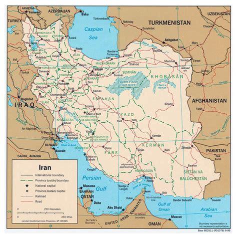 maps  iran map library maps   world