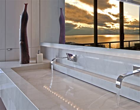 Faucet Trough Sink by Trough Sink Bathroom Bathroom Contemporary With Integrated