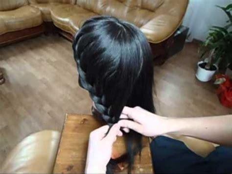 fryzura pleciona  dlugich wlosow youtube