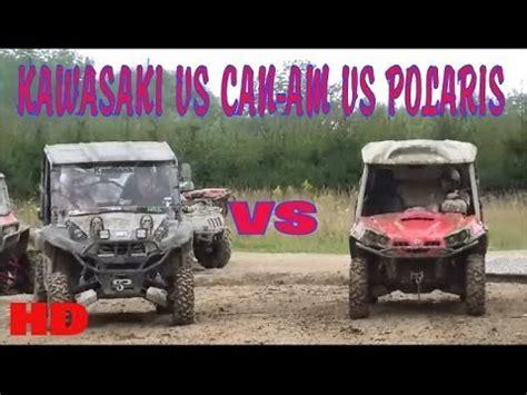 Polaris Rzr Vs Kawasaki Teryx by Kawasaki Teryx Vs Can Am Commander Vs Polaris Rzr Mud