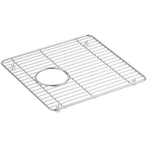 stainless steel sink rack stainless steel kitchen sink racks kohler cairn 13 75 in
