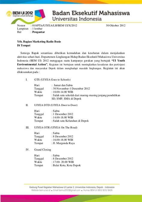 Contoh Surat Undangan Sponsorship by Contoh Surat Undangan Bazar Surat 10