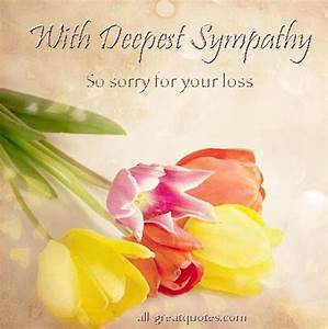 With Deepest Sympathy | Deepest sympathy messages, Deepest ...