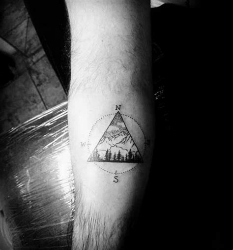 small geometric tattoos  men manly shape ink ideas