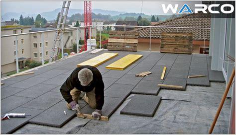 bodenbelag terrasse kunststoff verlegung auf dachfolie oder bitumenbahnen warco bodenbelag