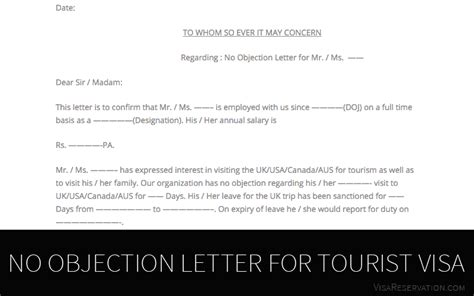 ultimate guide   objection letter  tourist visa